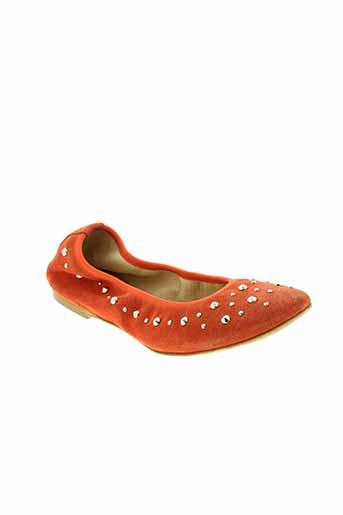 venezia ballerines femme de couleur orange