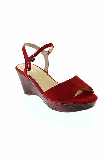 gabor sandales et nu et pieds femme de couleur rouge