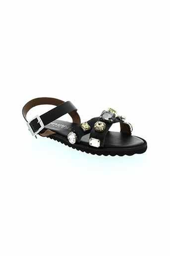 ephemere et for et ever sandales et nu et pieds femme de couleur noir