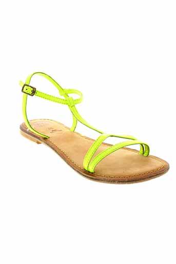gioseppo sandales et nu et pieds femme de couleur vert
