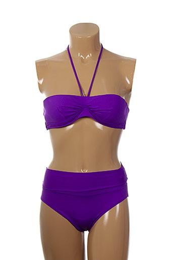 d nu d maillots de bain femme de couleur violet
