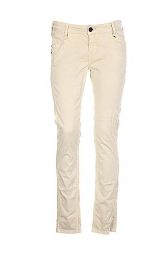 anna scott pantalons femme de couleur beige