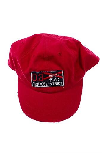 3 et pommes casquettes garcon de couleur rouge (photo)