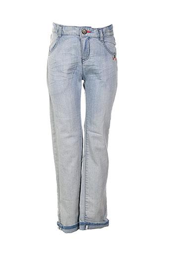 catimini jeans et coupe et droite fille de couleur bleu