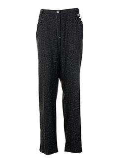 Pantalon casual gris BRIGITTE SAGET pour femme