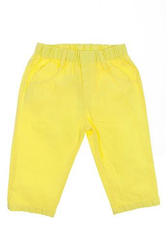 girandola pantalons fille de couleur jaune