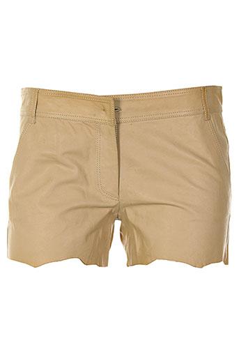 lou de beauregard shorts / bermudas femme de couleur beige