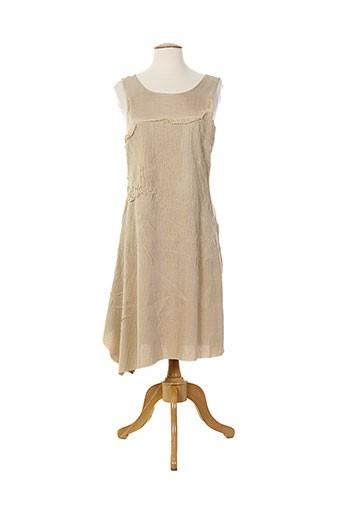 Robe mi-longue beige ALMALIBRE pour femme