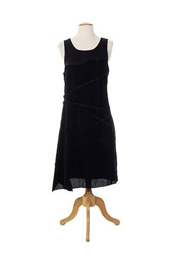 Robe mi-longue noir ALMALIBRE pour femme