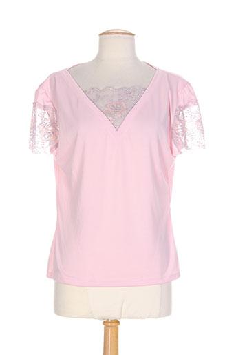 libertine tops et caracos femme de couleur rose