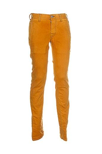 care label jeans homme de couleur orange