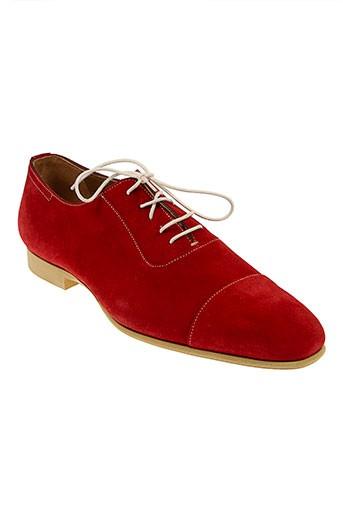 baxton chaussures homme de couleur rouge