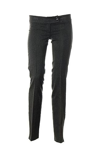 la petite francaise pantalons femme de couleur gris