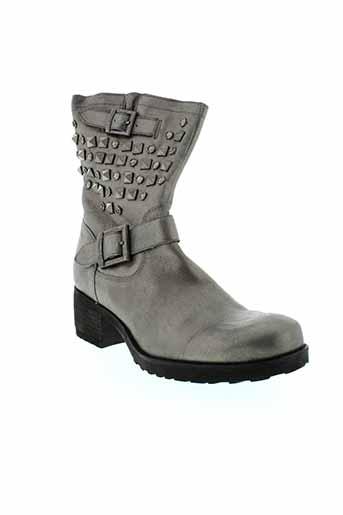 mam et zelle bottines femme de couleur gris