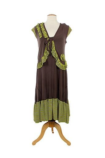 lm la maille robes femme de couleur marron