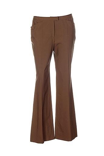 nathalie et chaize pantalons et decontractes femme de couleur marron
