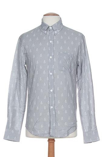 band of outsiders chemises homme de couleur gris