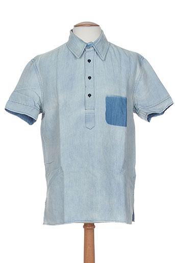 band of outsiders chemises homme de couleur bleu