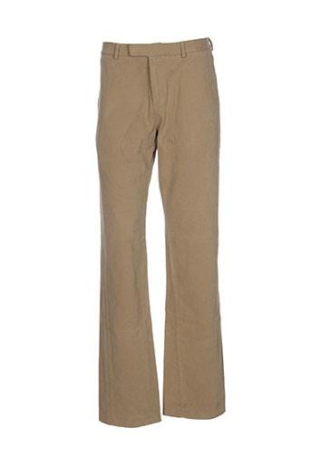 maison kitusné pantalons homme de couleur beige