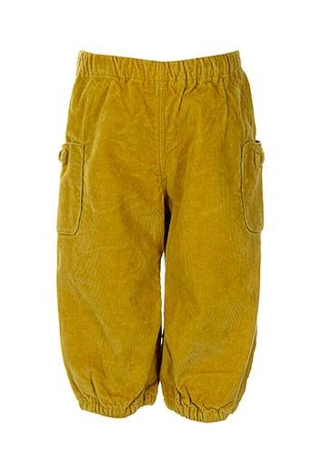 petit bateau pantalons fille de couleur jaune