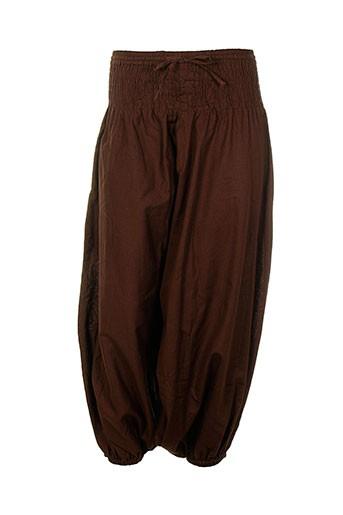 coton et du et monde sarouels femme de couleur marron