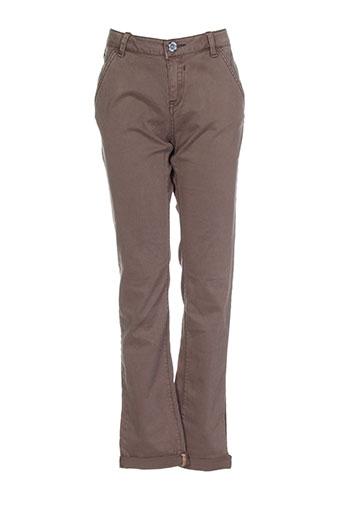 garcia pantalons fille de couleur marron