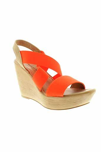 marco et tozzi sandales et nu et pieds femme de couleur orange