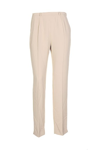 vera mont pantalons femme de couleur beige