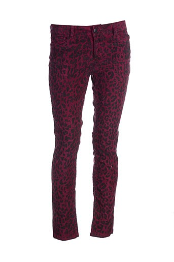 la petite francaise pantalons femme de couleur rouge