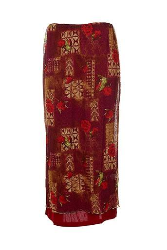 evalinka jupes femme de couleur rouge