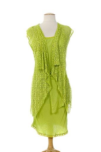 miss miss robes femme de couleur vert