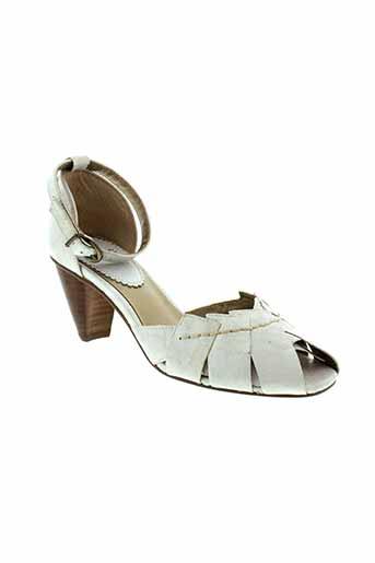 pierre et chupin sandales et nu et pieds femme de couleur blanc