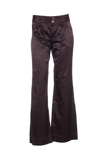 jacky-o by modarelli pantalons femme de couleur violet