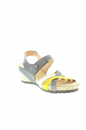 think sandales et nu et pieds femme de couleur gris