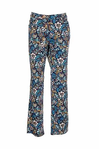 richy pantalons et decontractes femme de couleur bleu