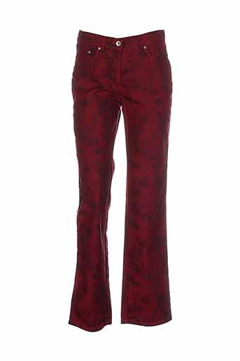 richy pantalons et decontractes femme de couleur rouge