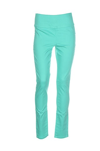 pieces pantalons et decontractes femme de couleur vert