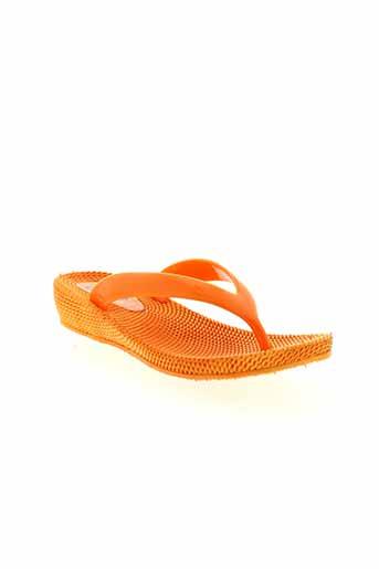 cassis et cote et d et azur tongs femme de couleur orange
