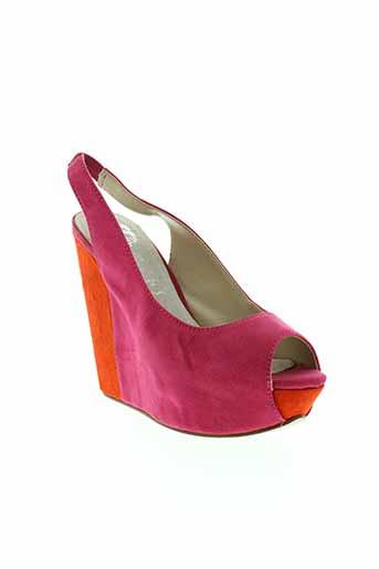 cassis et cote et d et azur sandales et nu et pieds femme de couleur rose