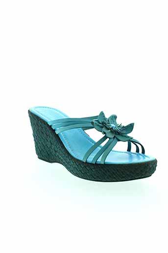 marco et tozzi sandales et nu et pieds femme de couleur bleu