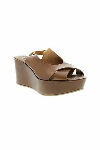 dmn chaussures femme de couleur marron