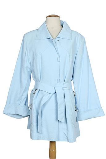 claude havrey manteaux femme de couleur bleu