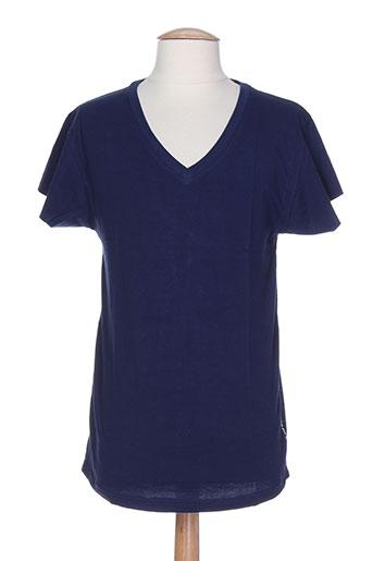 denim gallery biarritz t-shirts femme de couleur bleu