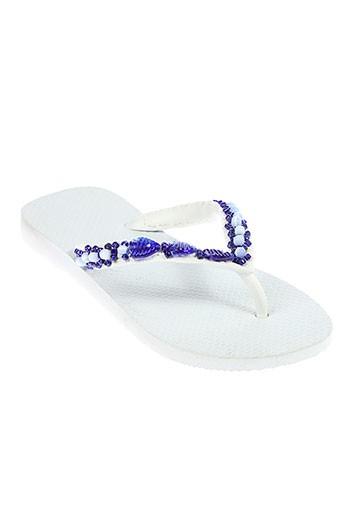havaianas chaussures femme de couleur blanc