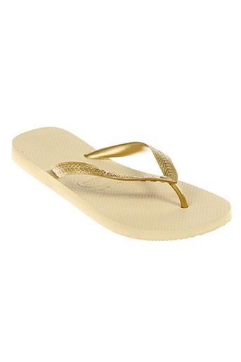 havaianas tongs femme de couleur beige