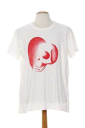 denim gallery biarritz t-shirts homme de couleur blanc