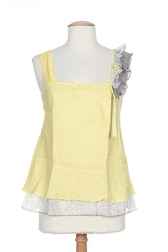coleen bow chemises femme de couleur jaune