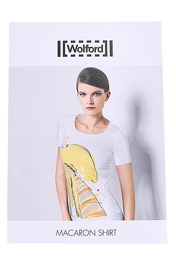 wolford t et shirts et tops femme de couleur blanc