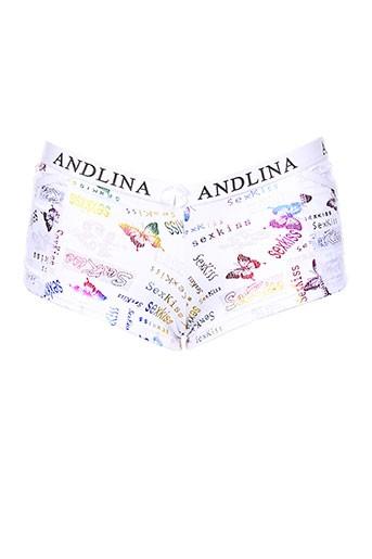 andlina shortys et boxers femme de couleur blanc