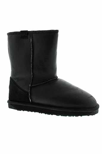emu et australia boots homme de couleur noir